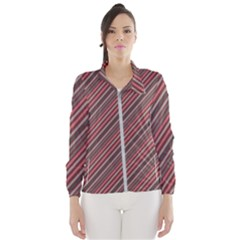 Brownish Diagonal Lines Windbreaker (women) by snowwhitegirl