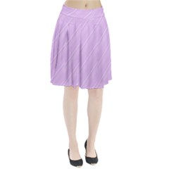 Lilac Diagonal Lines Pleated Skirt by snowwhitegirl