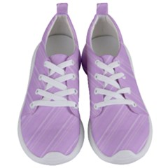 Lilac Diagonal Lines Women s Lightweight Sports Shoes