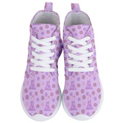 Violet Pink Flower Dress Women s Lightweight High Top Sneakers