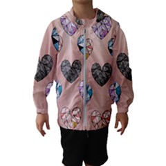 Gem Hearts And Rose Gold Hooded Windbreaker (kids)