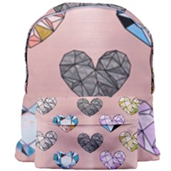 Gem Hearts And Rose Gold Giant Full Print Backpack by 8fugoso
