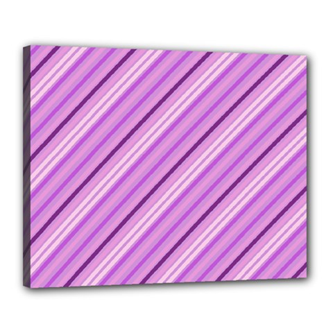 Violet Diagonal Lines Canvas 20  X 16  by snowwhitegirl