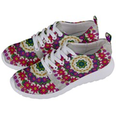 Fauna Fantasy Bohemian Midsummer Flower Style Men s Lightweight Sports Shoes by pepitasart