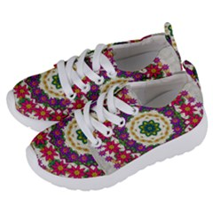 Fauna Fantasy Bohemian Midsummer Flower Style Kids  Lightweight Sports Shoes by pepitasart
