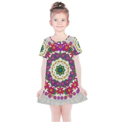 Fauna Fantasy Bohemian Midsummer Flower Style Kids  Simple Cotton Dress by pepitasart
