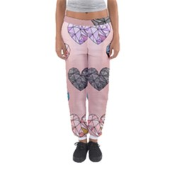 Gem Hearts And Rose Gold Women s Jogger Sweatpants by 8fugoso
