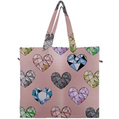 Gem Hearts And Rose Gold Canvas Travel Bag by 8fugoso