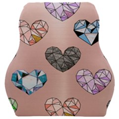 Gem Hearts And Rose Gold Car Seat Velour Cushion