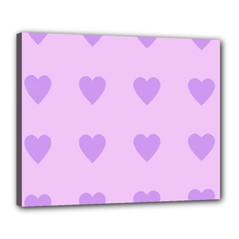 Violet Heart Canvas 20  X 16  by snowwhitegirl