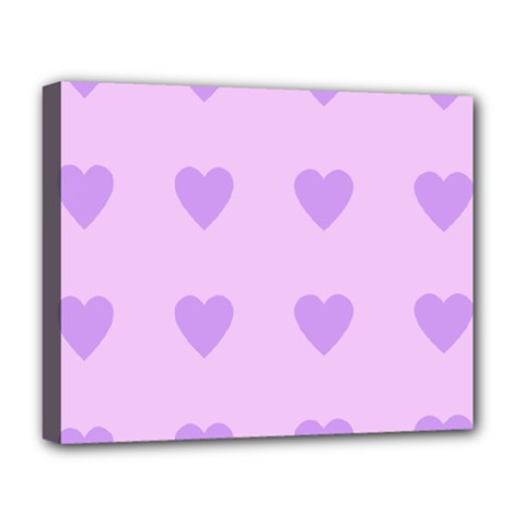 Violet Heart Deluxe Canvas 20  X 16   by snowwhitegirl