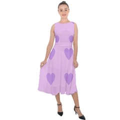 Violet Heart Midi Tie Back Chiffon Dress
