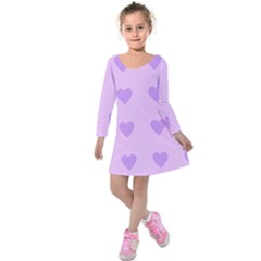 Violet Heart Kids  Long Sleeve Velvet Dress