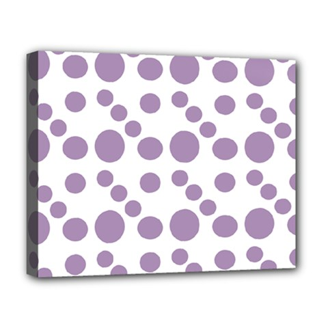 Violet Dots Deluxe Canvas 20  X 16   by snowwhitegirl