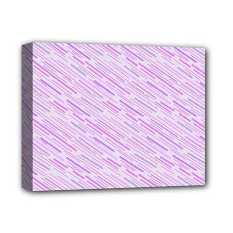 Silly Stripes Lilac Deluxe Canvas 14  X 11  by snowwhitegirl