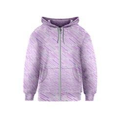 Silly Stripes Lilac Kids  Zipper Hoodie by snowwhitegirl