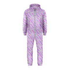 Silly Stripes Lilac Hooded Jumpsuit (kids)