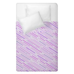 Silly Stripes Lilac Duvet Cover Double Side (single Size) by snowwhitegirl