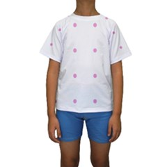 Pink Dots Kids  Short Sleeve Swimwear