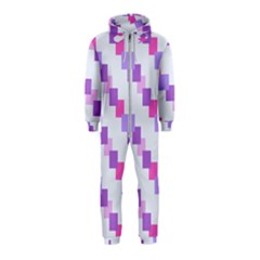 Geometric Squares Hooded Jumpsuit (kids) by snowwhitegirl