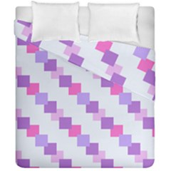 Geometric Squares Duvet Cover Double Side (california King Size) by snowwhitegirl