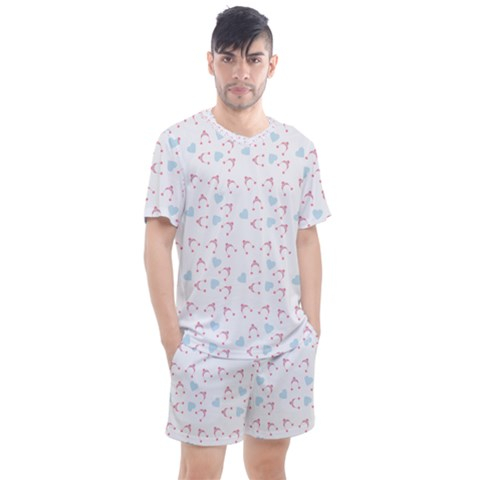 Pink Hats Men s Mesh Tee And Shorts Set by snowwhitegirl