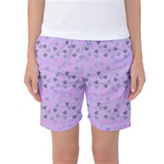 Heart Drops Violet Women s Basketball Shorts by snowwhitegirl
