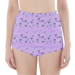 Heart Drops Violet High Waisted Bikini Bottoms by snowwhitegirl