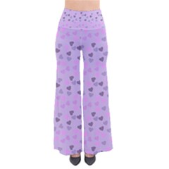 Heart Drops Violet So Vintage Palazzo Pants by snowwhitegirl