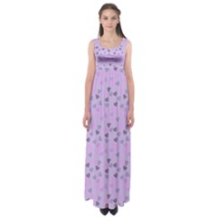 Heart Drops Violet Empire Waist Maxi Dress