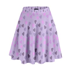 Heart Drops Violet High Waist Skirt by snowwhitegirl