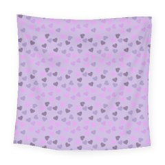 Heart Drops Violet Square Tapestry (large) by snowwhitegirl