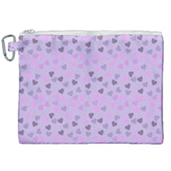 Heart Drops Violet Canvas Cosmetic Bag (xxl) by snowwhitegirl