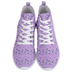 Heart Drops Violet Men s Lightweight High Top Sneakers by snowwhitegirl