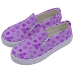 Purple Dress Kids  Canvas Slip Ons by snowwhitegirl