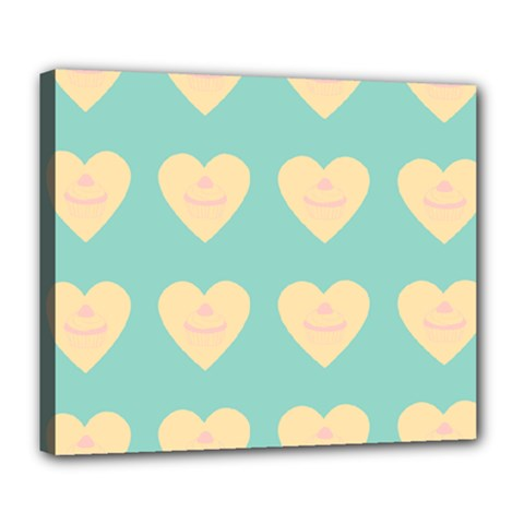 Teal Cupcakes Deluxe Canvas 24  X 20   by snowwhitegirl