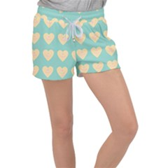 Teal Cupcakes Women s Velour Lounge Shorts
