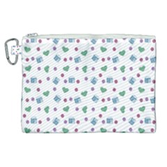 White Milk Hearts Canvas Cosmetic Bag (xl) by snowwhitegirl
