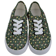 Green Milk Hearts Kids  Classic Low Top Sneakers