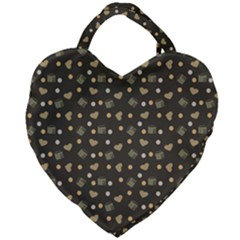Charcoal Grey  Milk Hearts Giant Heart Shaped Tote