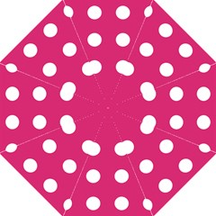 Pink Dot Hook Handle Umbrellas (large) by snowwhitegirl