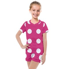 Pink Dot Kids  Mesh Tee And Shorts Set