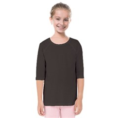 Dark Brown Kids  Quarter Sleeve Raglan Tee