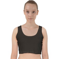 Dark Brown Velvet Racer Back Crop Top