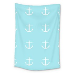 Aqua Anchor Large Tapestry by snowwhitegirl