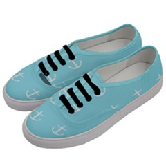 Aqua Anchor Men s Classic Low Top Sneakers by snowwhitegirl