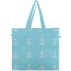 Aqua Anchor Canvas Travel Bag by snowwhitegirl