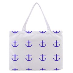 Royal Anchors On White Zipper Medium Tote Bag by snowwhitegirl