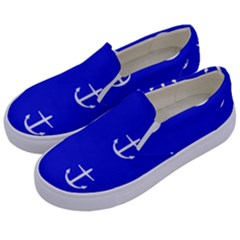 Royal Anchors Kids  Canvas Slip Ons by snowwhitegirl