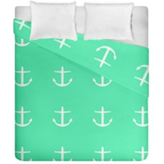 Seafoam Anchors Duvet Cover Double Side (california King Size) by snowwhitegirl